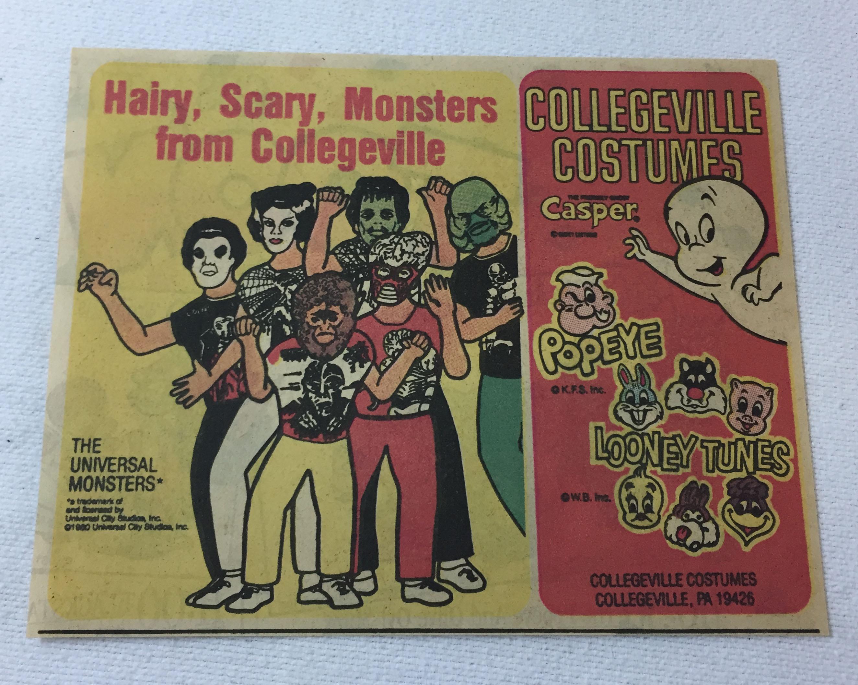 1981 Halloween Costumes Ad Universal Monsters Bride Of Frankenstein Wolf Man Ebay